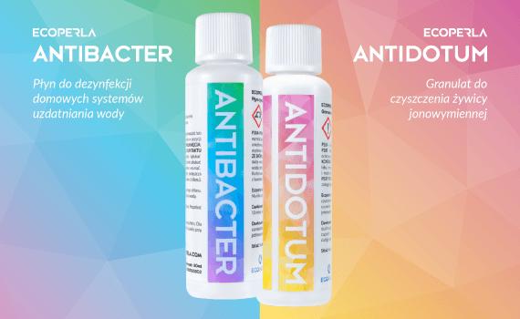 Ecoperla Antidotum i Ecoperla Antibacter - nowości od Ecoperla do konserwacji urządzeń filtrujących wodę